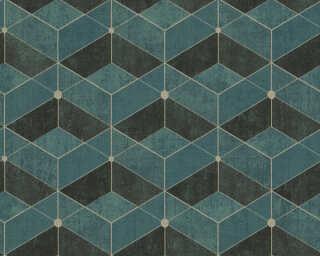 Livingwalls флизелин «Под плитку, Зеленые, Синие, Черные» 382023