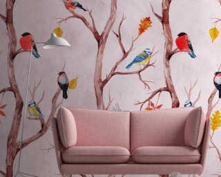 Livingwalls флизелин «Флора, Оранжевые, Разноцветные, Розовые» 382301