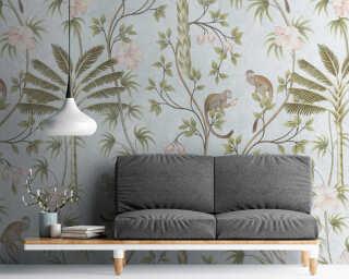 Livingwalls флизелин «Флора, Зеленые, Разноцветные, Серыe» 382311