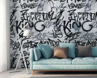 Livingwalls флизелин «Графика, Серыe, Черные» 382511