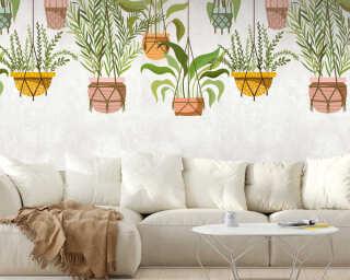 Livingwalls флизелин «Флора, Зеленые, Кремовые, Разноцветные» 382661