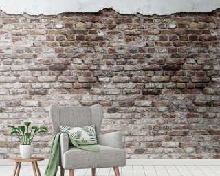 Livingwalls Vliestapete «Stein, Braun, Grau, Weiß» 383331