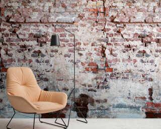 Livingwalls Vliestapete «Stein, Braun, Grau, Rot» 383351