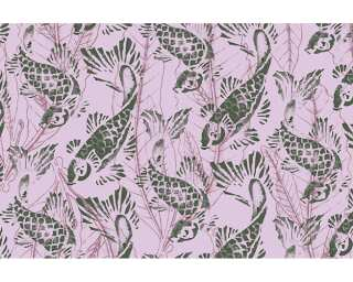 Architects Paper Photo wallpaper «Purple Koi» 470013