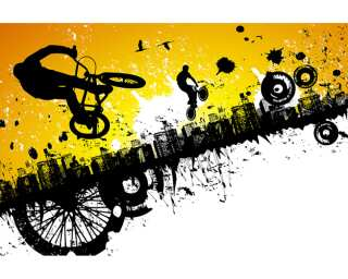 Livingwalls impression numérique «BMX Riders» 470343