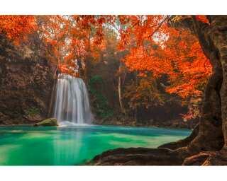 Livingwalls Fototapete «Erawan Waterfall» 470619