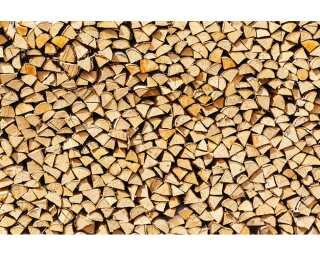 Livingwalls Photo wallpaper «Pile of Wood» 470632