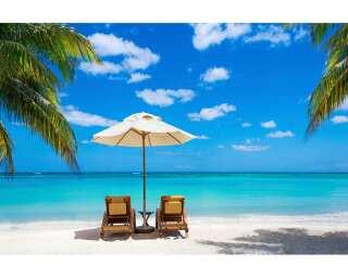 Livingwalls impression numérique «Beach with Chairs» 470689