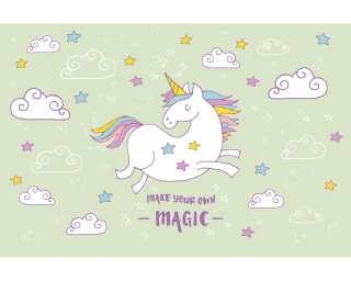 Livingwalls Фотообои «Unicorn Magic Grey» 4709370