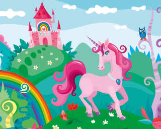 Livingwalls Fototapete «Pink Unicorn» 471928