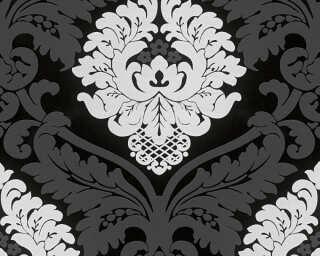 Livingwalls Tapete «Barock, Floral, Schwarz, Weiß» 554314