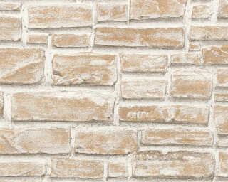 A.S. Création Wallpaper «Stone, Cottage, Beige, Cream, White» 662125