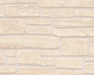 A.S. Création Wallpaper «Stone, Cottage, Beige, Brown, Cream» 662323