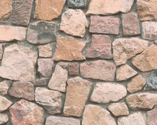 A.S. Création Wallpaper «Stone, Coloured, Cream, Grey» 692412