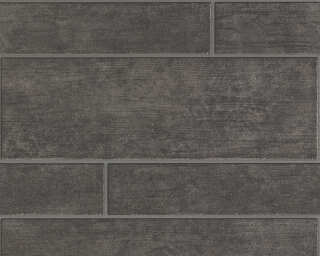 A.S. Création Wallpaper «Tile, Black, Brown, Grey» 707024