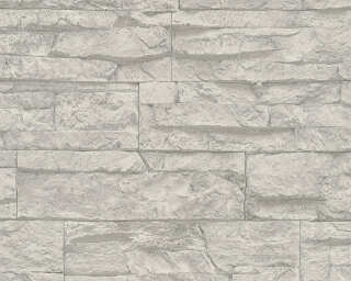 A.S. Création Wallpaper «Stone, Grey, White» 707116