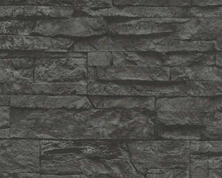 A.S. Création Wallpaper «Stone, 3D, Black, Grey» 707123