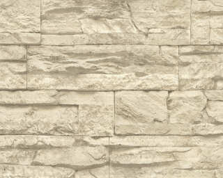 A.S. Création Wallpaper «Stone, Beige, Cream» 707130