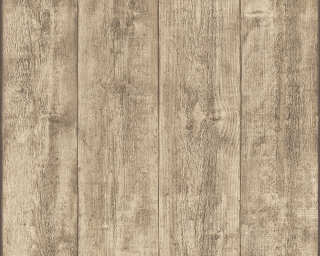 A.S. Création non-woven wallpaper «Wood, Cottage, Beige, Brown, Yellow» 708816