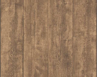A.S. Création non-woven wallpaper «Wood, Cottage, Brown» 708823