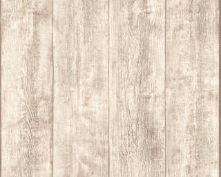 A.S. Création non-woven wallpaper «Wood, Cottage, Beige, Cream, White» 708830