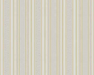 A.S. Création Wallpaper «Stripes, Gold, Metallic, White» 765642