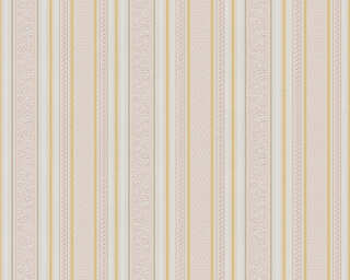 A.S. Création Wallpaper «Stripes, Gold, Metallic, Red, White» 765659