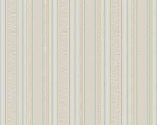 A.S. Création Wallpaper «Stripes, Gold, Green, Metallic, White» 765666