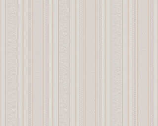 A.S. Création Wallpaper «Stripes, Beige, Cream, White» 765673