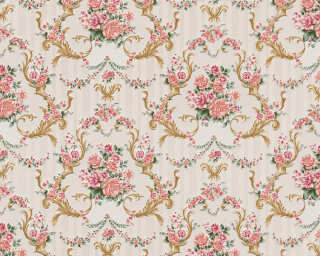 A.S. Création Wallpaper «Baroque, Gold, Green, Metallic, Pink» 765765
