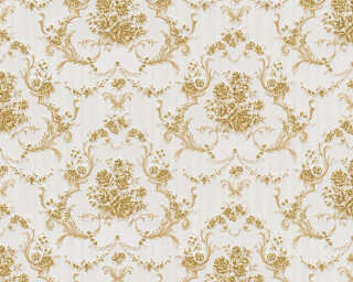 A.S. Création Wallpaper «Baroque, Gold, Metallic, White» 765796