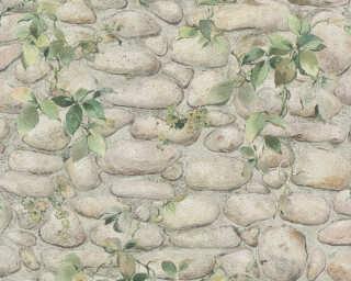 A.S. Création papier peint «Pierre, vert» 834416