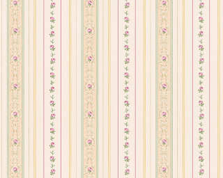 ORIGINALS Wallpaper «Stripes, Beige, Green, Pink» 850157