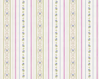 ORIGINALS Wallpaper «Stripes, Blue, Green, Purple» 850164
