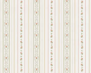 ORIGINALS Wallpaper «Stripes, Brown, Cream, Green» 850171
