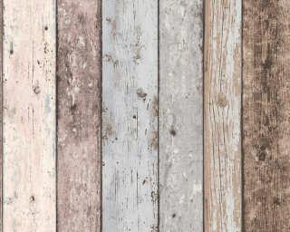 A.S. Création Обои «Под дерево, Деревенский стиль, Бежевые, Коричневыe, Синие» 855039