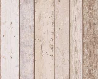 A.S. Création papier peint «Bois, Maison, beige, bleu, marron» 899910