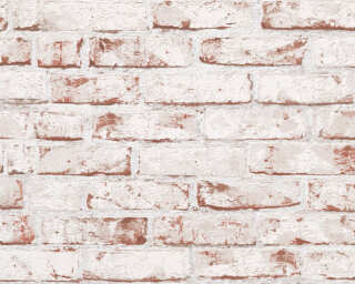 A.S. Création Wallpaper «Stone, Cottage, Beige, Brown, Red» 907813