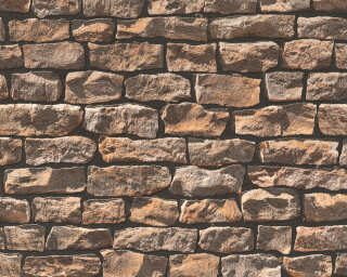A.S. Création Wallpaper «Stone, Cottage, Beige, Black, Brown» 907912