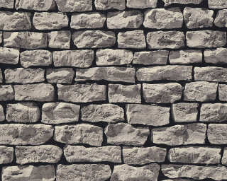 A.S. Création Wallpaper «Stone, Cottage, 3D, Black, Grey» 907929