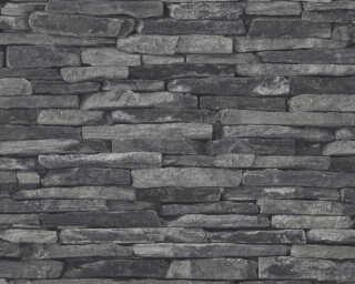 A.S. Création флизелин «Под камень, Деревенский стиль, Серыe, Черные» 914224