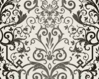 Versace Home Wallpaper «Baroque, Black, Metallic, White» 935452