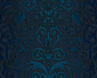 Versace Home Wallpaper «Baroque, Blue» 935454