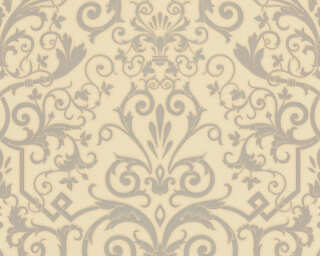 Versace Home Wallpaper «Baroque, Cream, Grey, Metallic» 935455
