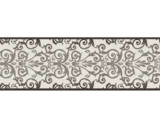 Versace Home Border «Baroque, Black, Metallic, White» 935472