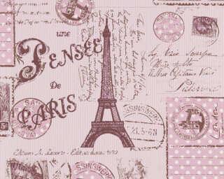 A.S. Création Papiertapete «Braun, Rot, Violett» 936302