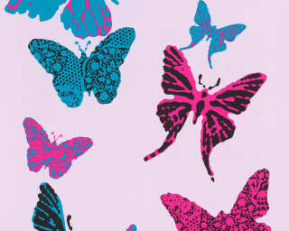 A.S. Création Papiertapete «Blau, Schwarz, Violett» 936342