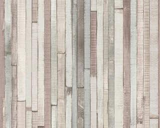 Lutèce papier peint «Bois, beige, gris, marron» 940552