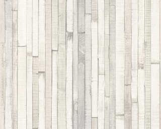 Lutèce papier peint «Bois, crème, gris, marron» 940553