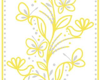 Livingwalls Designpanel «Grafik, Floral, Grau, Grün, Weiß» 942281